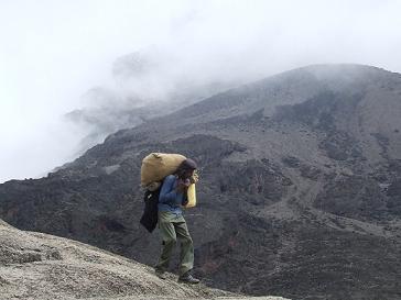 Kilimanjaro porter does the hard yards